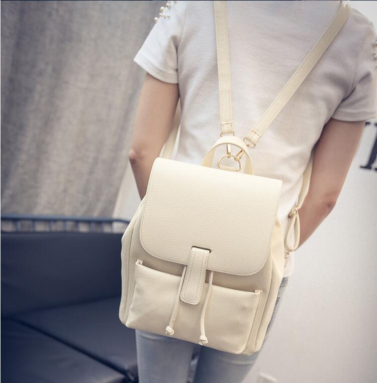 ФОТО DICOOL 2016 Mochila backpack Fashion Women Backpack High Quality PU Leather Bag Pretty Style Shoulder Bag