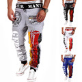 In the spring of 2016 new men smoked rope slack graffiti fashion sweatpants letters printing