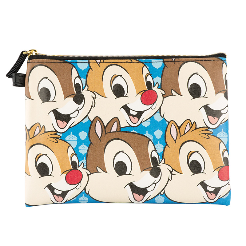3Pcs Authentic Chip And Dale Multi-Function Portable Storage Bag Cosmetic Bag Set