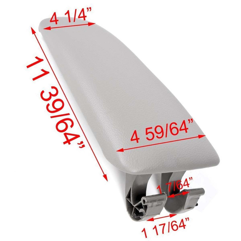 Grey Leather Armrest Box Console Cover Lid for Audi A4 B7 04-07 08 Quattro Wagon