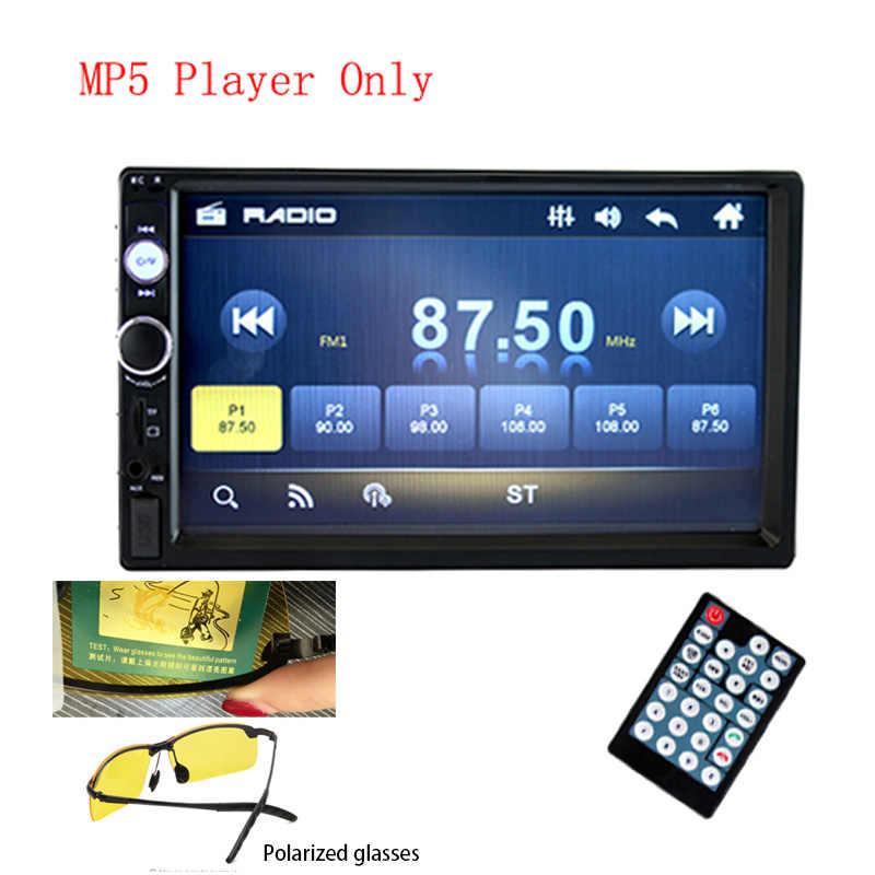 """2 din Radio samochodowe 7 """"HD Radio samochodowe odtwarzacz multimedialny 2 DIN ekran dotykowy Auto samochodowy audio Stereo MP5 bluetooth USB TF FM aparat"""