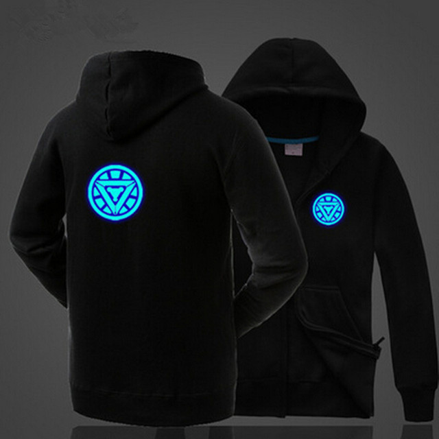 Fantastic luminous Naruto's leaf symbol hoodie / sweatshirt