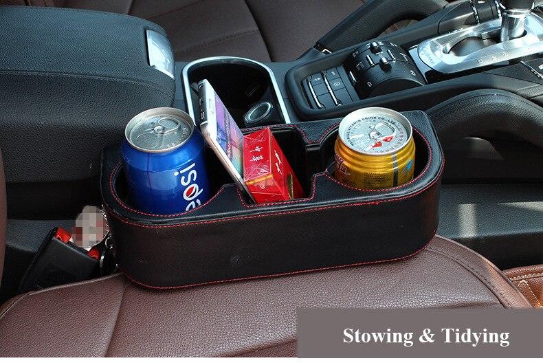 αυτοκίνητο-styling αυτοκινήτου κενό διοργανωτής PU κάτοχος ποτηριών αυτοκινήτων πολυλειτουργικό όχημα κινητό τηλέφωνο πεντάκια ποτό κάτοχος διαρροής απόδειξη αποθήκευσης