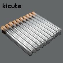 Kicute 10 шт./упак. лаборатории Стекло Тесты с пробковой пробки 15x150 мм лаборатории школа учебные пособия