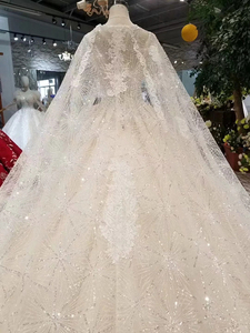 Image 5 - LS11233 elegant wedding gowns with long cape v neck sleeveless tank style v back wedding dresses ball gown платье бальное