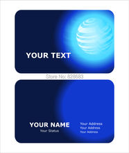 matte white plastic cards with both sides printing, technology template