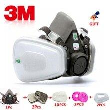 17 в 1 3 м 6200 промышленная полумаска спрей краска противогаз респираторная защита безопасность работы Пылезащитная Респиратор маска фильтр