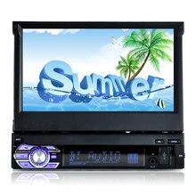 лучшая цена 7'' HD Digital Display Retractable Screen Car Mp4 Mp5 Player Stereo FM Transmitter Car Audio Radio Bluetooth version