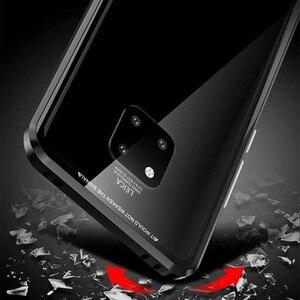 Image 4 - 360 קדמי + אחורי דו צדדי 9 H מזג זכוכית מקרה עבור Huawei Mate20 פרו מגנטי מקרה עבור Huawei mate 20 פרו מתכת פגוש כיסוי