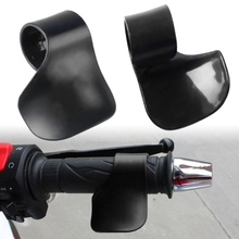 2pcs Black Universal Plastic Motorcycle Throttle Assist Wrist Rest Handlebar Cruise Control Aid Grip For H-arley Honda Yamaha