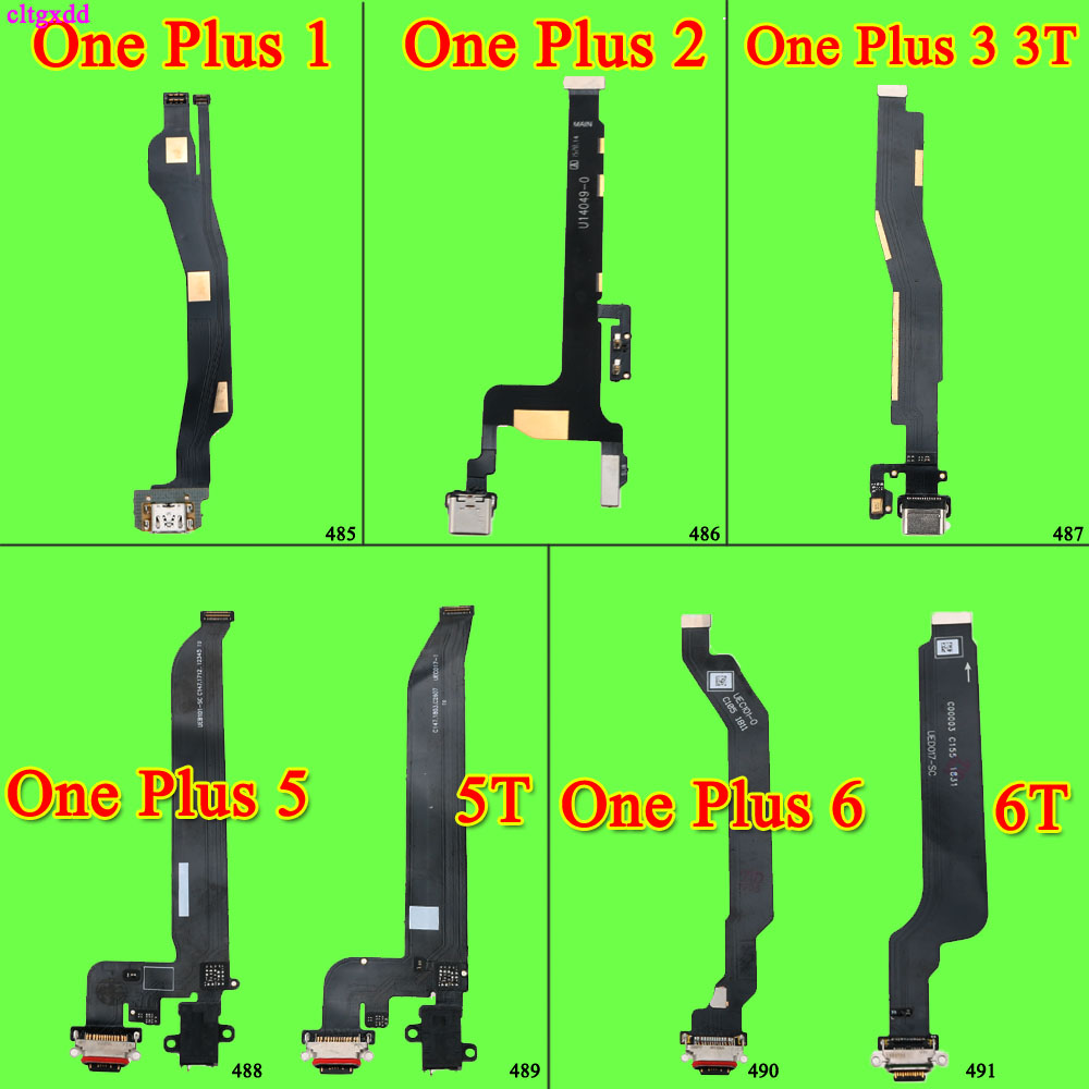 Cltgxdd For OnePlus One Plus1 2 3 3T 5 5T 6 6T Type C USB Charging Port Dock Connector Flex Cable Replacement Assembly Parts