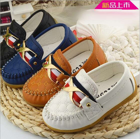 2016 New brand fashion single PU leather baby girls boys shoes hot sales cool casual prince kids baby sneakers free shipping