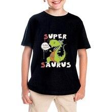 Children's clothes boy lady 2017 summer season brief sleeve T-shirts for boys 100% cotton model Super Saurus tops informal T-shirt scorching