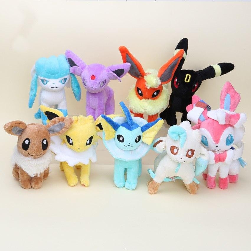15-20cm Toy Eevee Plush Toys  Sylveon Espeon Flareon Umbreon Glaceon Jolteon Vaporeon Leafeon Stuffed Plush Doll