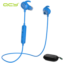 QCY sets QY19 sports earphones bluetooth headphones for iphone 6 7 android phone and portable storage box