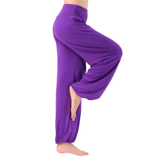 2016 New Yoga Pants Women Plus Size Soft Light Bloomers Dance Yoga TaiChi Full Length Pants Smooth No Shrink Antistatic Pants