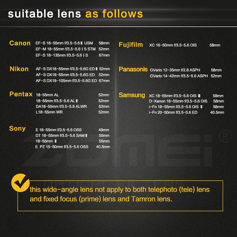 0.45x Professional Wide Angle Conversion Lens -9