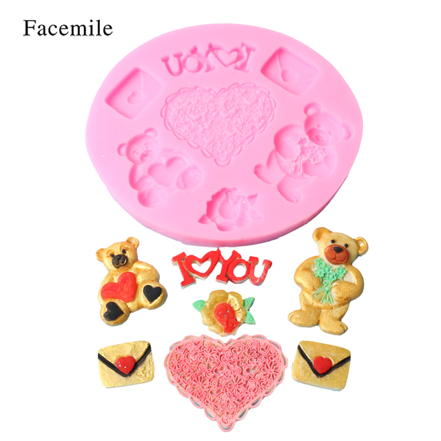 Aliexpress.com : Buy Valentine\'s Day Sugarcraft Heart Bear ...