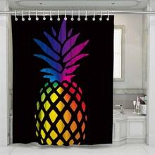 цена на 3D Pineapple Beach Shower Curtain Bathroom Waterproof Polyester Printing Curtains for Bathroom Shower