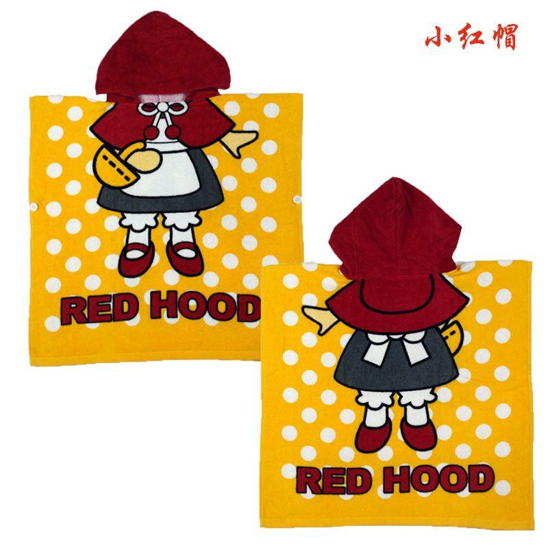 Мультяшные халаты «Алиса» для мальчиков и девочек, «Белоснежка», «динозавр», «панда», «машинка», «робот», милое детское банное полотенце, детский банный халат, пижама - Цвет: red hat