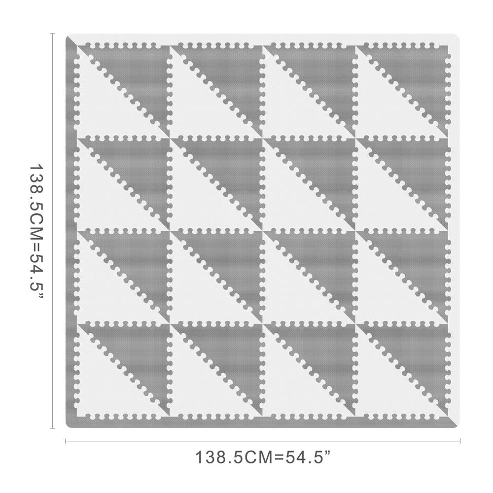 MQIAOHAM tapis de jeu bébé tapete infantil tapis enfant jouets pour enfants tapis de jeu puzzle eva mousse gym enfants tapis triangle 35 CM * 1 CM - 3