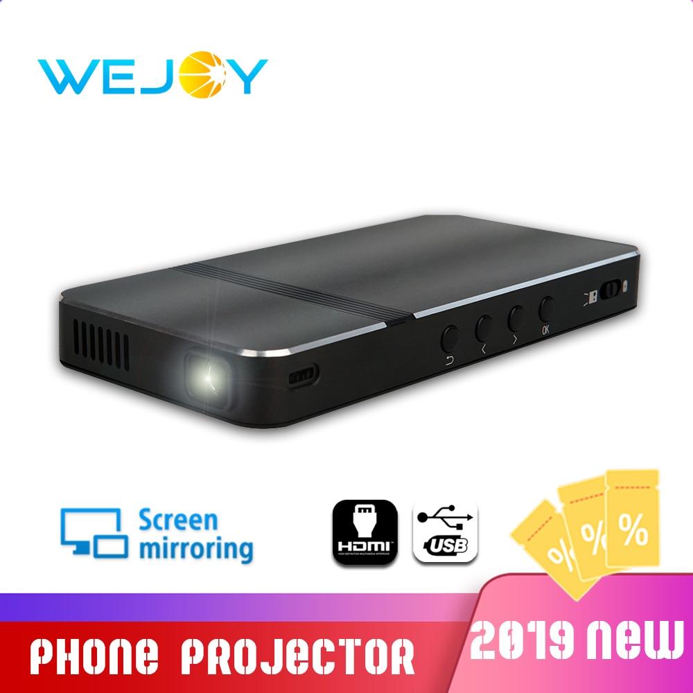 Wejoy DL-V1 poche Portable DLP projecteur LED téléphone Mini Portable proyecteur 40 Keystone correction écran miroir USB jeu
