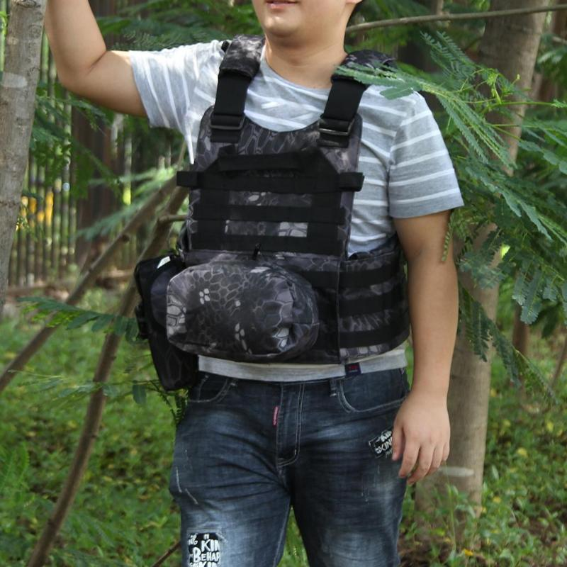 Military Tactical Vest Army Airsoft Molle Vest Combat Hunting Vest with Pouch Assault Plate Carrier CS