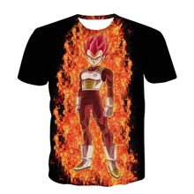 Dragon Ball Z T-shirt Super Saiyan 3d T Shirt Animation Vegeta/Angry Goku print Tee Shirts harajuku informal Hipster t shirt R2295