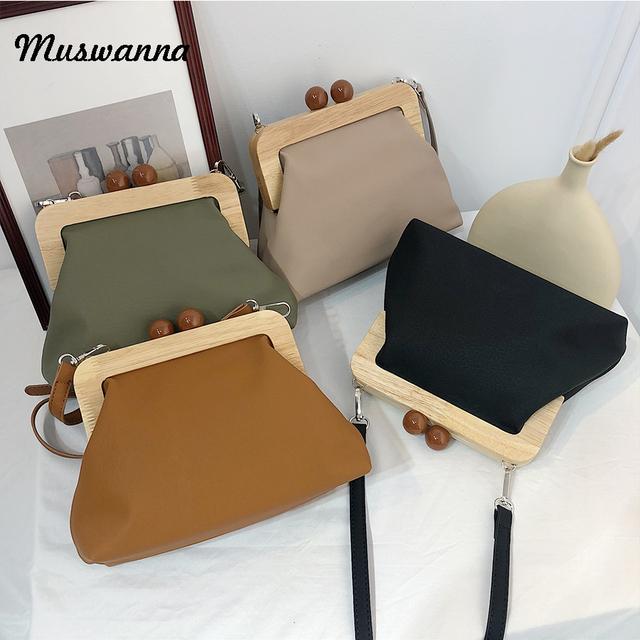 Retro Pu Soft Leather Clip Bag Luxury Women Bags Female Shoulder Messenger Bag Crossbody bag Clutch Purse Bolso femenino 2019
