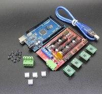 Mega 2560 R3 1pcs RAMPS 1 4 Controller 4pcs A4988 Stepper Driver Module RAMPS 1 4