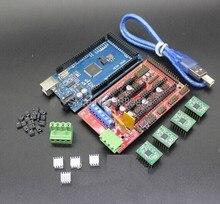 Mega 2560 R3 + 1pcs RAMPS 1.4 Controller + 4pcs A4988 Stepper Driver Module RAMPS 1.4 KIT for 3D Printer kit Reprap MendelPrusa