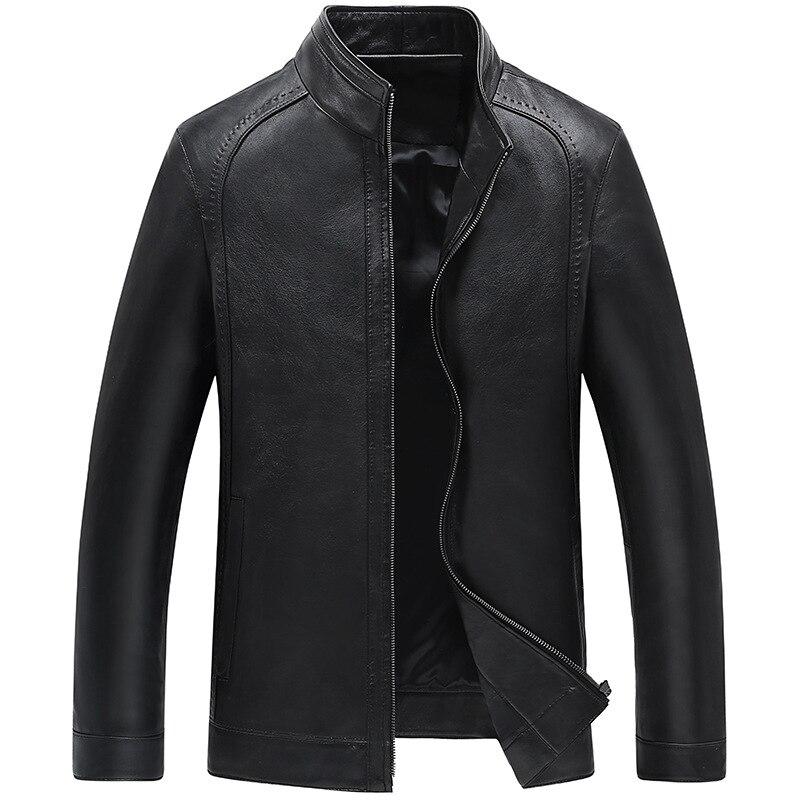 YOLANFAIRY Véritable Veste En Cuir Homme 2018 Manteau En Cuir de mouton Printemps Automne Outwear Taille 4XL jaqueta de couroie MF042