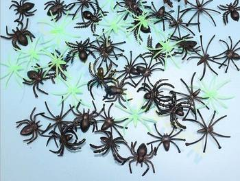 2000PCS Plastic Black Spider party Halloween Decoration Festival Supplies Funny Toys bar Haunted house escape room Video props