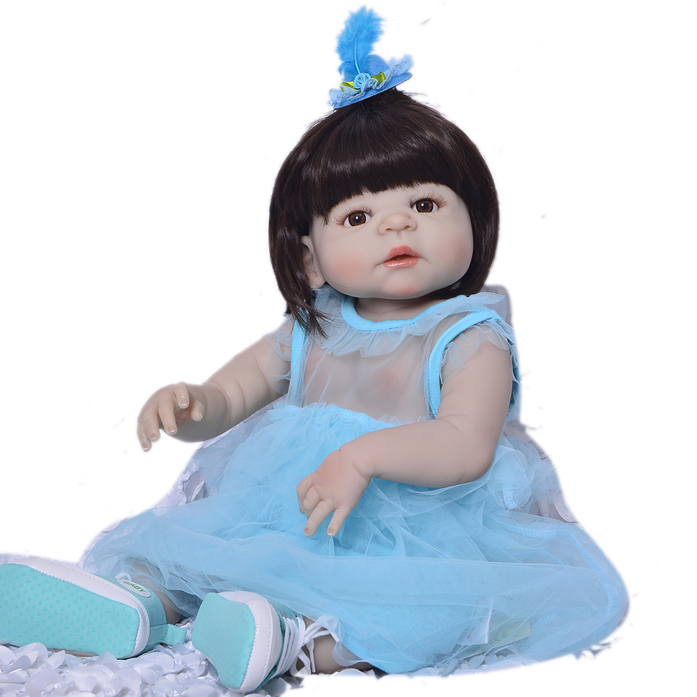 23inch Lifelike Babies Boneca Full silicone VInyl Fashion Dolls bathe super quality doll  stylish toddlers collection  for sale23inch Lifelike Babies Boneca Full silicone VInyl Fashion Dolls bathe super quality doll  stylish toddlers collection  for sale