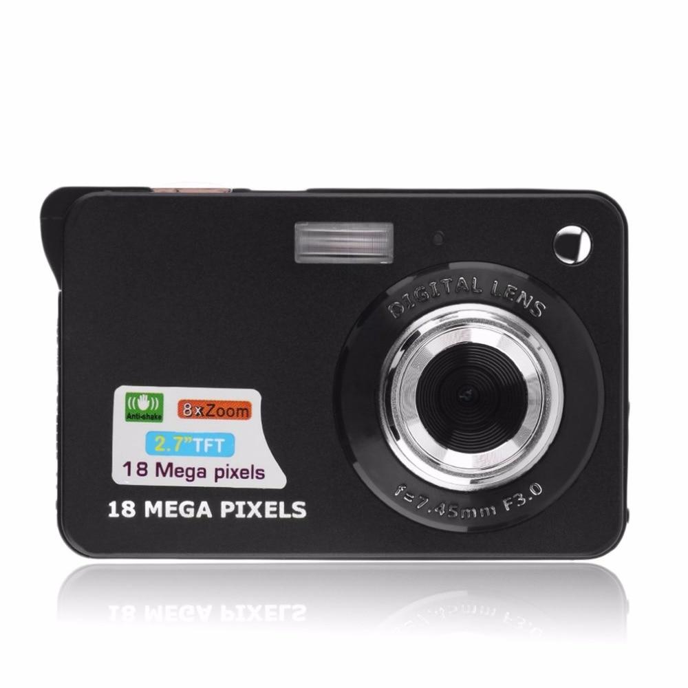 цена на Professional 2.7 TFT LCD HD 720P 18MP K09 Digital Camera Camcorder 32G CMOS Sensor 8X Zoom Anti-shake Anti-red Eye