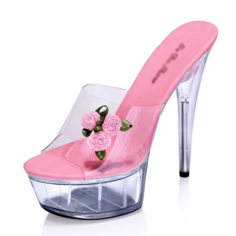 Platform Slippers 15cm High Heels Women Summer Shoes Mules Transparent Crystal Slides Red Pink Ladies Shoes Peep Toe Clear Heel new orignal offer for 15 g150x1 l02 g150x1 l01 lcd screen
