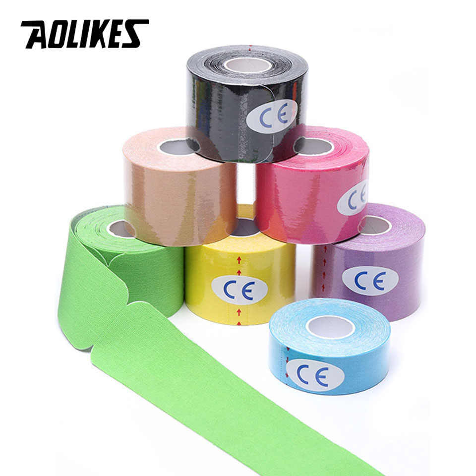 ff0788db80 AOLIKES 2 Size Kinesiology Tape Breathable Waterproof Athletic Recovery  Sports Tape Fitness Tennis Knee Muscle Pain