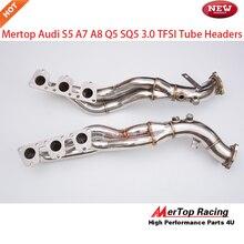Mertop гонки B8 3,0 T S4 и S5 A7 A8 Q5 SQ5 3,0 TFSI V6 длинная трубка коллектора
