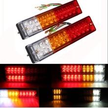 В 10 светодио дный В -В 30 в или 12 В водостойкий 20 LED s ATV грузовик светодио дный прицеп светодиодный задний фонарь лампа яхта автомобиль задний фонарь Реверсивный ходовой тормоз поворотные огни