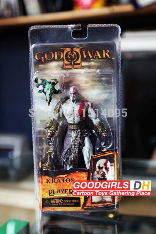 7.5 God of War NECA God of War Kratos in Golden Fleece Armor with Medusa Head PVC Action Figure Collection GW006