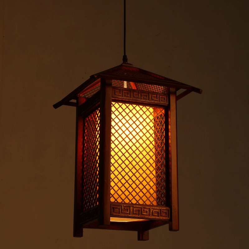 Chinese retro solid wood chandeliers living rooms restaurants restaurants corridors attic lights