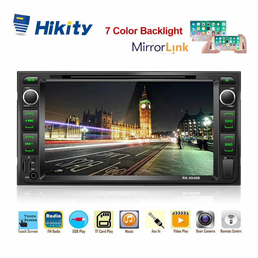 """Hikity 2 喧騒車のラジオ 7 """"HD 車ステレオ ISO/Android のミラーリンク車の DVD サポートのステアリングホイールリモコンとバックアップカメラ"""