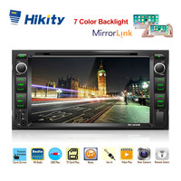 Hikity 2 din Car Radio 7HD Car Stereo ISO/Android Mirror Link Car DVD Player Support Steering Wheel Remote And Backup Camera