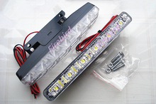 New energy saving waterproof 6Led daytime running lights DRL, 3W * 2 cold white E4 fog driving lights, free shipping
