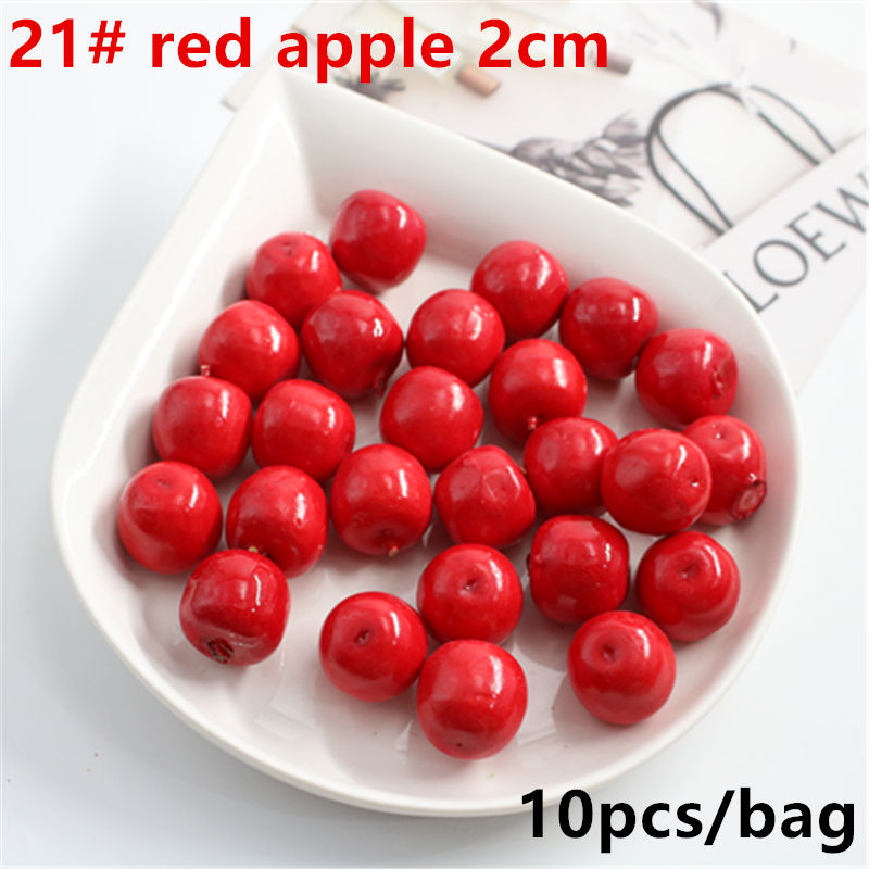 10 Pcs Mini Decoration Christmas Party Simulation Fruit Simulation Artificial Fruit