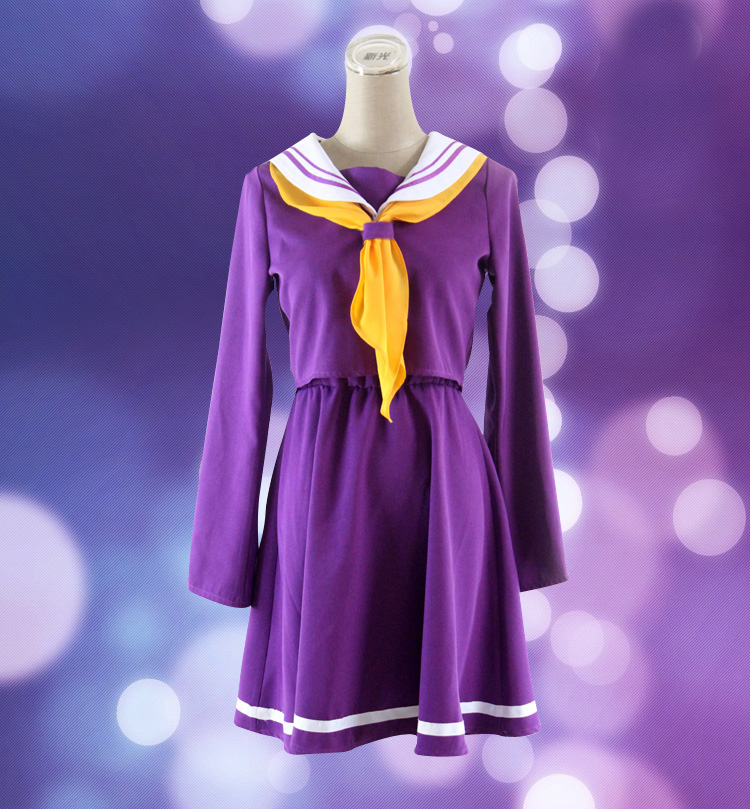 Female No Game No Life Cosplay Costume Girl Shiro Emboitement Heroine Sailor Suit for Halloween Party School Uniform 89