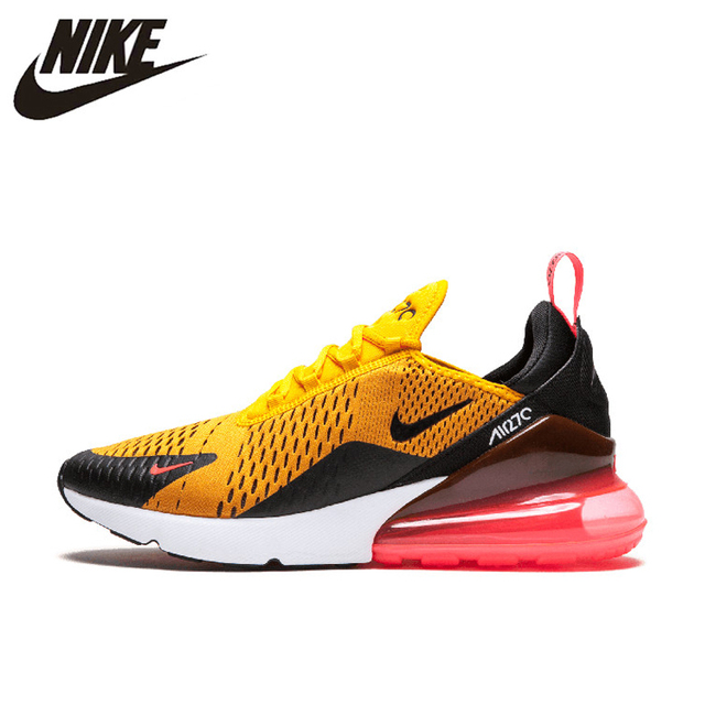 Nike Air Max 270 180 Running Shoes Sport Outdoor Sneakers Yellow Black Red Comfortable Breathable Cushioning for Men AH8050-006