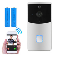 WiFi Wireless Smart Video Doorbell Camera Two Way Audio Night Vision, PIR Motion Detection Alarm security Rechargeable Battery