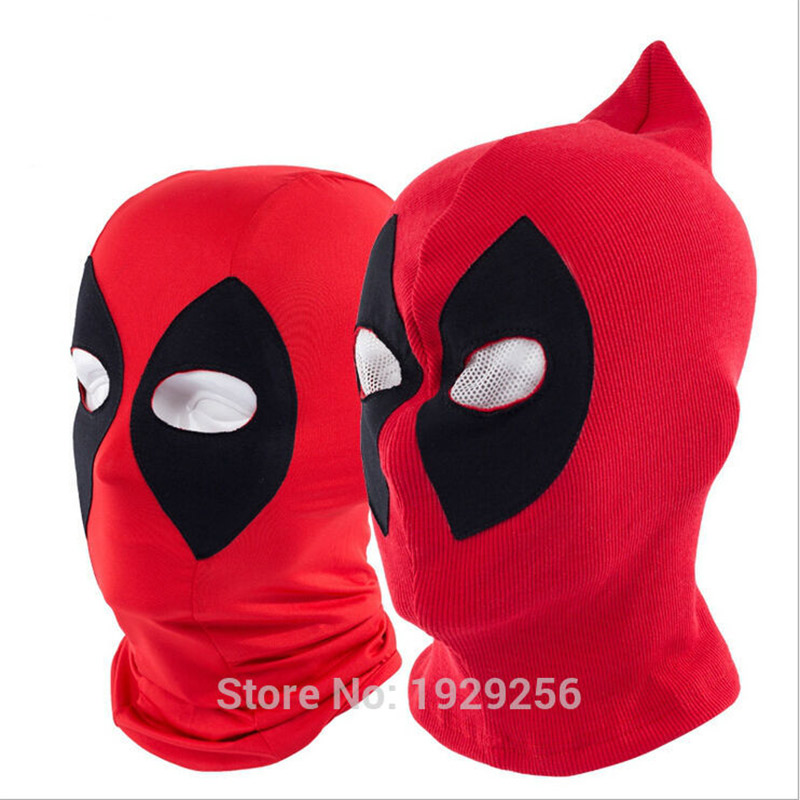 5pcs Lycra or Rib Fabrics Deadpool Masks Balaclava Halloween Cosplay Costume X men Hats Headwear Arrow
