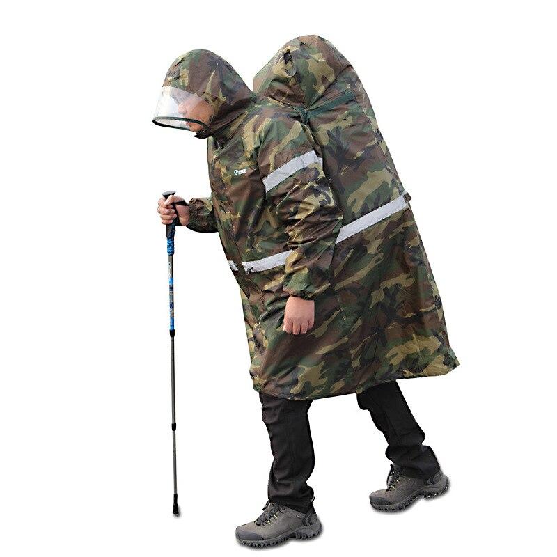 Quality Adult Men Women Portable Outdoor Raincoat With Reflective Stripe Rain Wear Rain Gear Rainsuit Rain Coat Backpacks Poncho